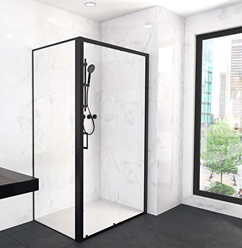 Duschkabine CITY 80x120 cm in matt schwarzem Design