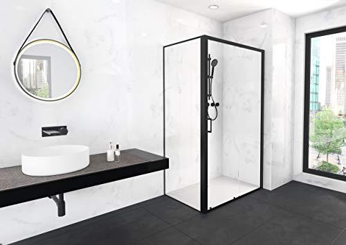 Duschkabine CITY 80×120 cm in matt schwarzem Design - 2