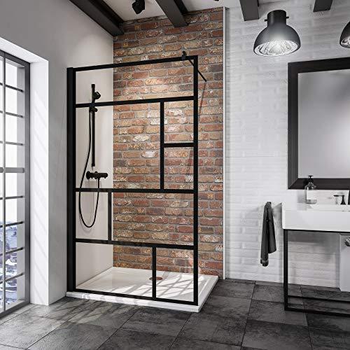 Duschwand Dekor Atelier 1 in schwarzem Design