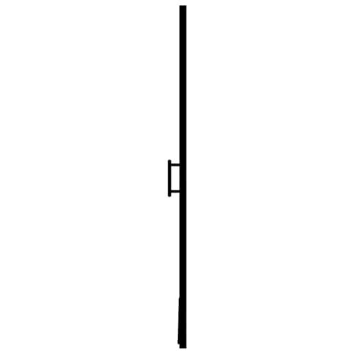 vidaXL Duschtür Hartglas Duschabtrennung Nischendusche Glastür 81×195 cm Schwarz - 5