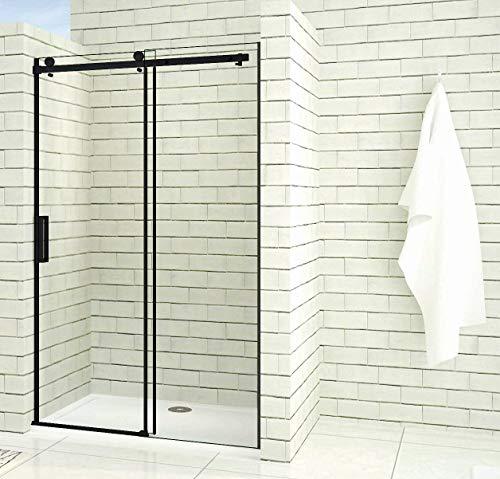 Aica Sanitär 100x200cm Duschtür Verstellbereich von 97-100 cm Duschabtrennung Nischentür Dusche Schwarz aus 8mm Sicherheitsglas mit Nanobeschichtung - 2