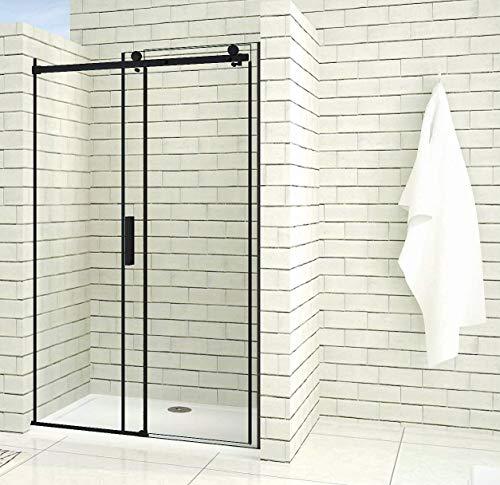 Aica Sanitär 100x200cm Duschtür Verstellbereich von 97-100 cm Duschabtrennung Nischentür Dusche Schwarz aus 8mm Sicherheitsglas mit Nanobeschichtung - 3