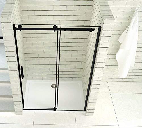 Aica Sanitär 100x200cm Duschtür Verstellbereich von 97-100 cm Duschabtrennung Nischentür Dusche Schwarz aus 8mm Sicherheitsglas mit Nanobeschichtung - 4