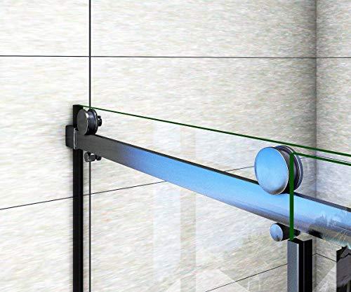 Aica Sanitär 100x200cm Duschtür Verstellbereich von 97-100 cm Duschabtrennung Nischentür Dusche Schwarz aus 8mm Sicherheitsglas mit Nanobeschichtung - 5
