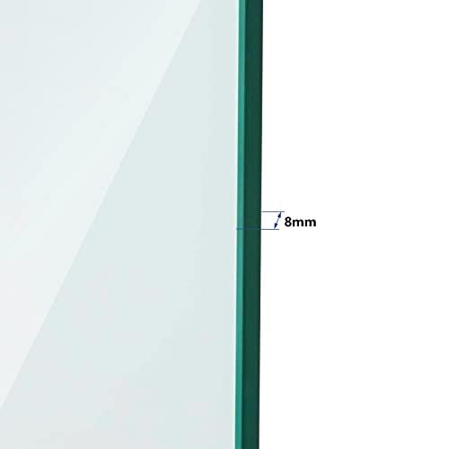 Duschkabine 80x80cm Duschabtrennung Duschtür Schwingtür Pendeltür mit Seitenwand, Duschkabinen Beschlag flächenbündig Schwarz 8mm ESG Sicherheitsglas mit Nano-Beschichtung Höhe 190cm - 7