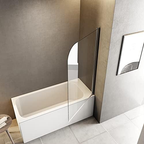 Meykoers Duschabtrennung 120x140cm Duschwand für Badewanne, Dreifalten Duschwand Badewannenaufsatz mit 6mm Nano Easy Clean Glas - 3