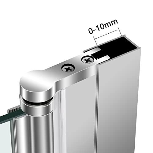 Meykoers Duschabtrennung 120x140cm Duschwand für Badewanne, Dreifalten Duschwand Badewannenaufsatz mit 6mm Nano Easy Clean Glas - 7