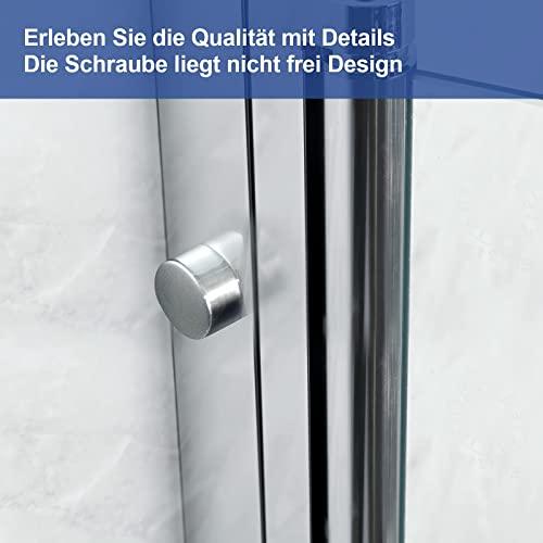 Meykoers Duschabtrennung 120x140cm Duschwand für Badewanne, Dreifalten Duschwand Badewannenaufsatz mit 6mm Nano Easy Clean Glas - 9