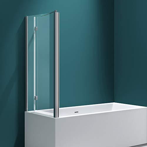 Badewannenfaltwand C113 Wandanschlag links in Klarglas 6 mm ESG-Glas Nano-Versiegelung BTH: 70x120x140cm - 3