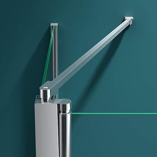 Badewannenfaltwand C113 Wandanschlag links in Klarglas 6 mm ESG-Glas Nano-Versiegelung BTH: 70x120x140cm - 5
