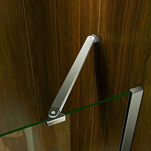 Duschkabine 70x70cm Duschabtrennung Duschtür Drehtür Duschwand Seitenwand NANO Glas 195cm - 4