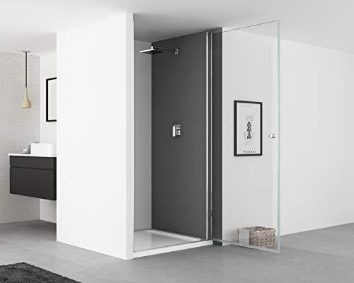 IMPTS Duschtür Pendeltür 70cm Duschkabine Nische Dusche Schwingtür Duschwand Glas 6mm ESG Sicherheitsglas 185cm - 3