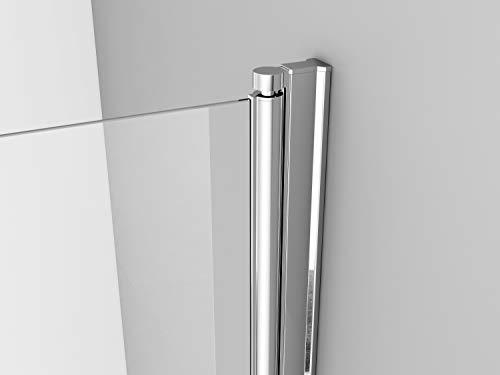 IMPTS Duschtür Pendeltür 70cm Duschkabine Nische Dusche Schwingtür Duschwand Glas 6mm ESG Sicherheitsglas 185cm - 5
