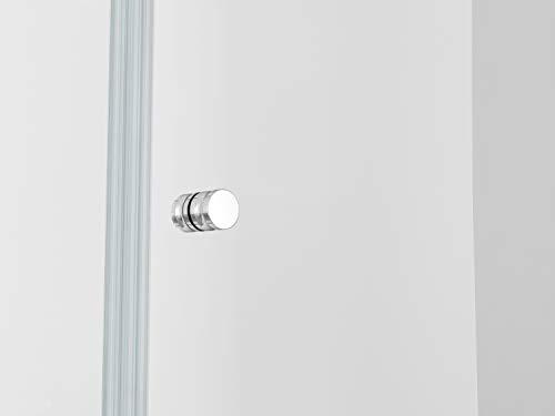IMPTS Duschtür Pendeltür 70cm Duschkabine Nische Dusche Schwingtür Duschwand Glas 6mm ESG Sicherheitsglas 185cm - 6