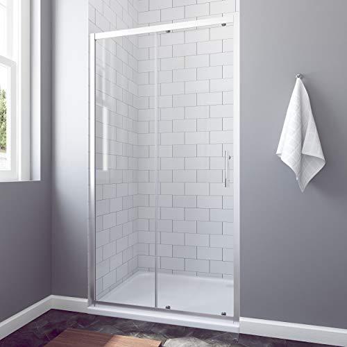 Moderne Duschtür Schiebetür aus Klarglas mit Aluminiumrahmen