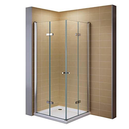 Duschkabine mit Falttüren, Eckeinstieg und Nanobeschichtung
