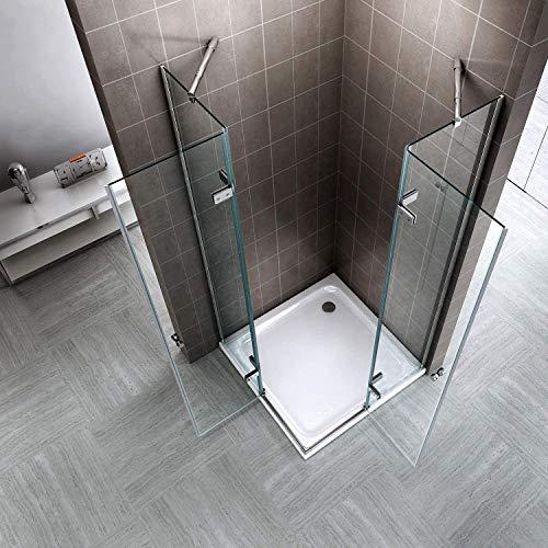 Eck-Duschkabine – Höhe 180 cm – Klarglas (70 x 70 – Höhe 180 cm) - 4