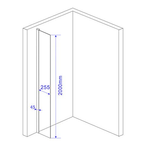 10 mm Duschtrennwand FREE-Mini 30 x 200 cm - 4
