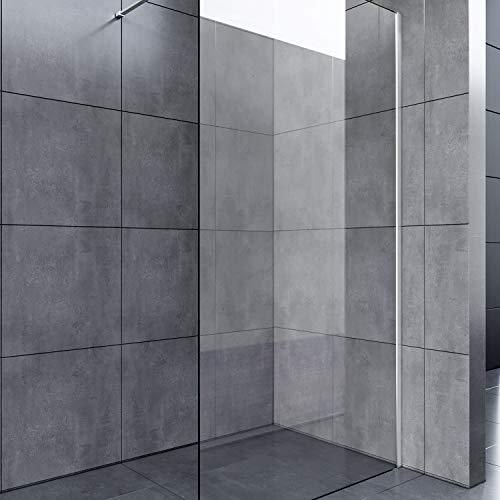 70x200cm Walk in Duschwand, NANO ESG 8mm, Duschtrennwand Glaswand mit Stabilisator - 2
