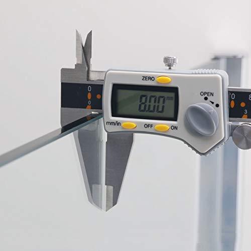 70x200cm Walk in Duschwand, NANO ESG 8mm, Duschtrennwand Glaswand mit Stabilisator - 3