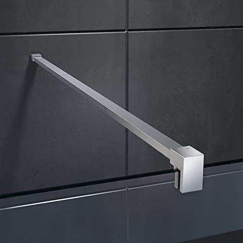 70x200cm Walk in Duschwand, NANO ESG 8mm, Duschtrennwand Glaswand mit Stabilisator - 8