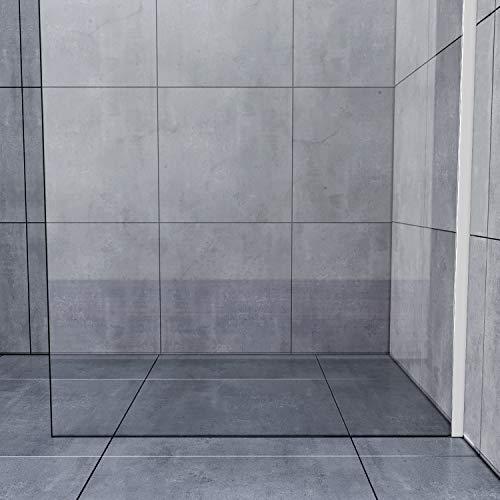 70x200cm Walk in Duschwand, NANO ESG 8mm, Duschtrennwand Glaswand mit Stabilisator - 9