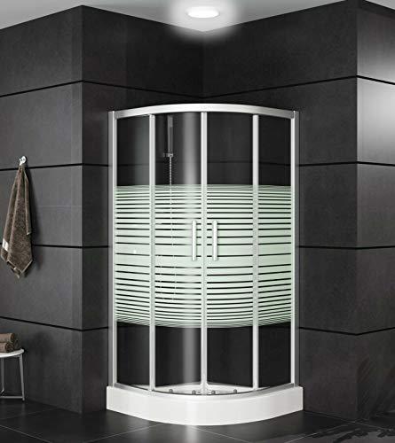 Runde Duschkabine mit Eckeinstieg und Schiebetüren