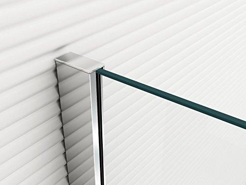Glaszentrum Hagen - 10mm Duschwand - Duschabtrennung - Dusche - Walk-In Dusche - Fest & Freistehend - ESG - Variante (ESG-Klarglas, 30x200cm) - 2