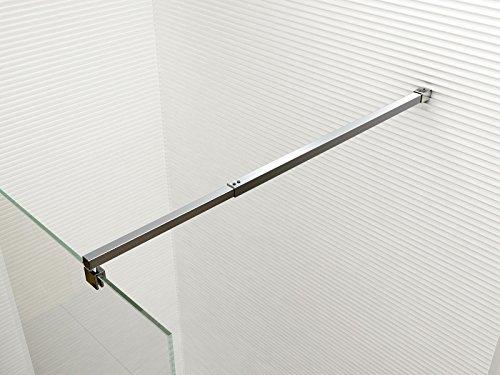 Glaszentrum Hagen - 10mm Duschwand - Duschabtrennung - Dusche - Walk-In Dusche - Fest & Freistehend - ESG - Variante (ESG-Klarglas, 30x200cm) - 3