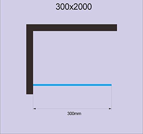 Glaszentrum Hagen - 10mm Duschwand - Duschabtrennung - Dusche - Walk-In Dusche - Fest & Freistehend - ESG - Variante (ESG-Klarglas, 30x200cm) - 5