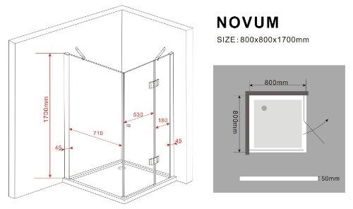 Duschkabine NOVUM 80 x 80 x 170 cm - 7