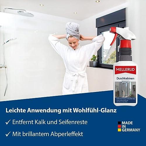 Mellerud Duschkabinen Reiniger – Wirksames Spray gegen Kalk- & Seifenreste in der Dusche – 1 x 0,5 l - 2