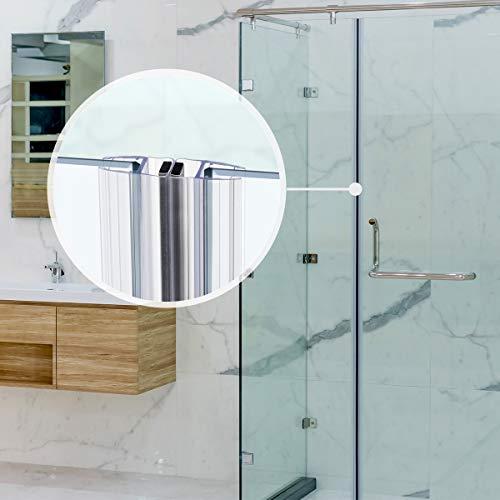 STEIGNER Magnetduschdichtung SET, 201cm, Glasstärke 3,5/4/ 5mm, Ersatzdichtung für 180 Grad Duschtür, UKM01, 2 Stück - 8