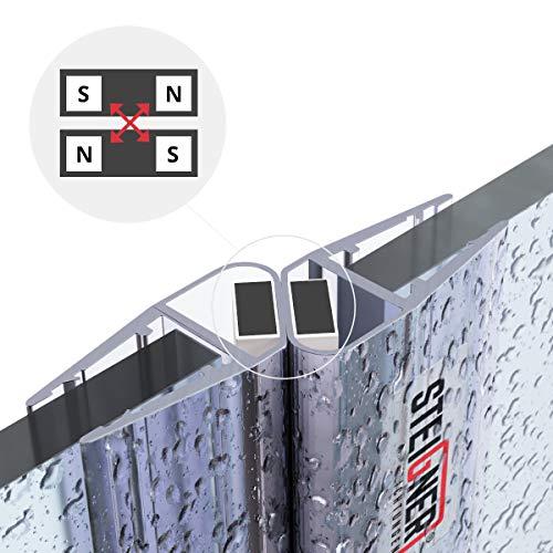 STEIGNER Magnetduschdichtung SET, 201cm, Glasstärke 3,5/4/ 5mm, Ersatzdichtung für 180 Grad Duschtür, UKM03, 2 Stück - 5