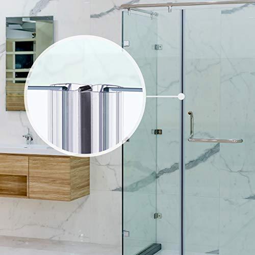 STEIGNER Magnetduschdichtung SET, 201cm, Glasstärke 3,5/4/ 5mm, Ersatzdichtung für 180 Grad Duschtür, UKM03, 2 Stück - 8