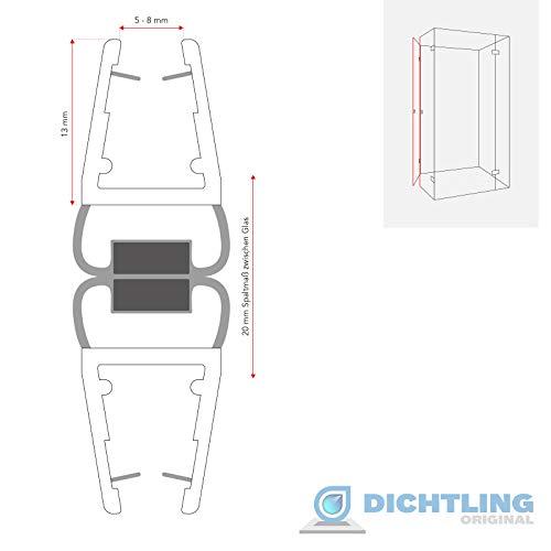 1 Set Magnetdichtung 180 Grad für 5mm, 6mm, 7mm und 8mm 8850 Glasstärke Magnetduschdichtung Duschdichtung Duschtüren… - 2