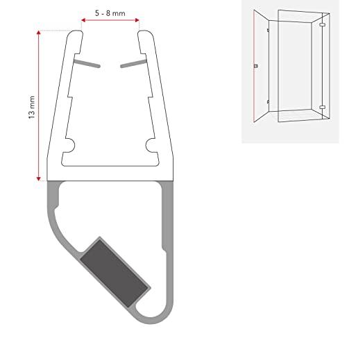 1 Set Magnetdichtung 90 Grad für 5mm, 6mm, 7mm und 8mm 8851 Glasstärke Magnetduschdichtung Duschdichtung Duschtüren… - 2