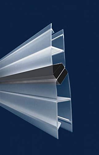 2 x 195 cm Magnetduschdichtung 90 Grad für 8 – 10 mm Glasdicke