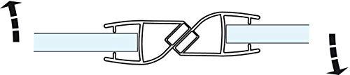 Gedotec Magnet-Dichtung Tür-Glastürdichtung Duschtür-Dichtung für Duschkabinen 180° | Länge 2000 mm | PVC Transparent | Duschdichtung für Glasdicke 8-10 mm | 1 Stück - Türdichtung mit Zuhaltung - 3