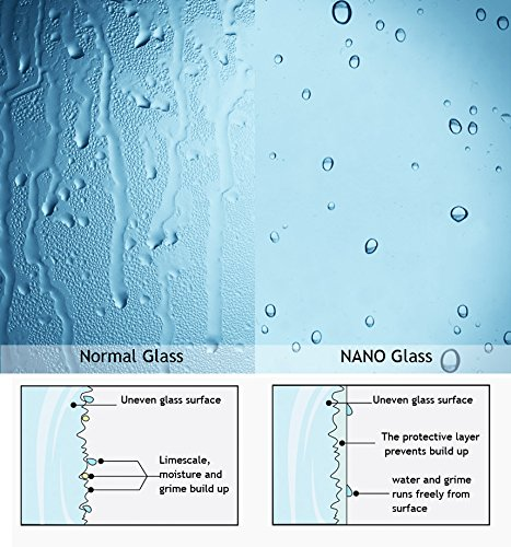 Zweiteilige Badewannenfaltwand mit Nanobeschichtung von MIQU - 5