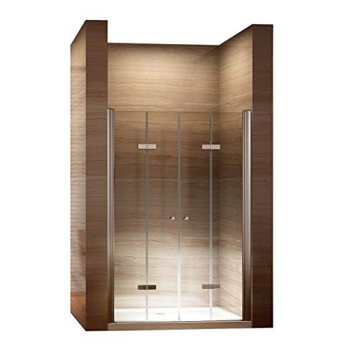 Rahmenlose Duschtür Falttür mit Nanobeschichtung