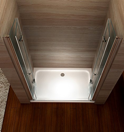 Rahmenlose Duschtür Falttür mit Nanobeschichtung - 2