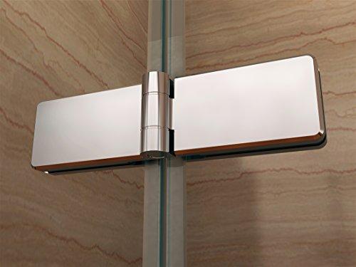 Rahmenlose Duschtür Falttür mit Nanobeschichtung - 6
