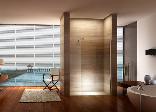 duschwand f r walk in dusche duschabtrennung. Black Bedroom Furniture Sets. Home Design Ideas