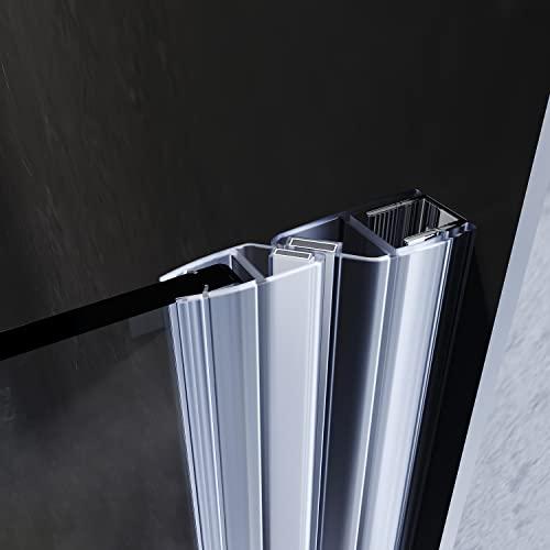 Rahmenlose Duschtür Drehtür aus Klarglas von sunnyshowers - 5