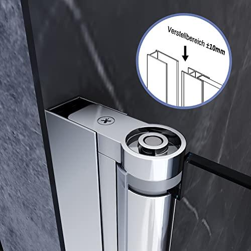 Rahmenlose Duschtür aus Klarglas - 5