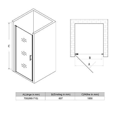 Rahmenlose Duschtür Drehtür aus Klarglas von sunnyshowers - 4