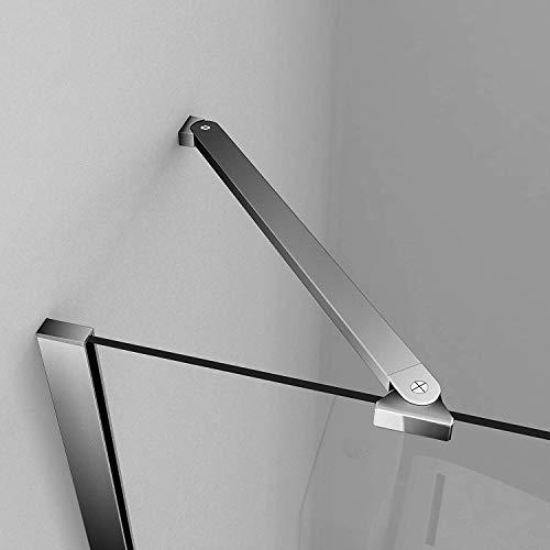 Duschtür Drehtür aus Klarglas mit feststehendem Glaselement und Nanobeschichtung - 4