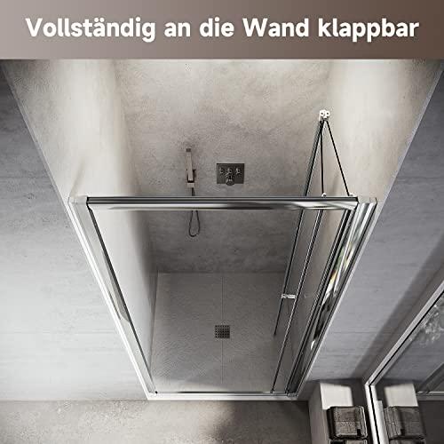 Hochwertige Duschtür Falttür aus Klarglas mit Aluminiumrahmen - 5