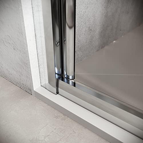 Hochwertige Duschtür Falttür aus Klarglas mit Aluminiumrahmen - 4